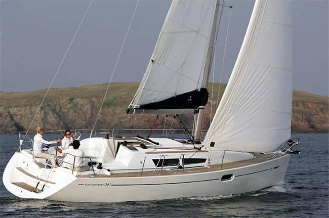 Sun Odyssey 36i, Tia